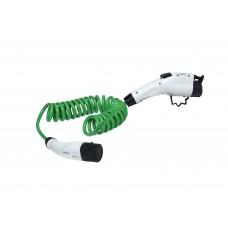 16A Zencar zöld spirál elektromos autó töltőkábel (Type2-Type2)